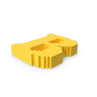 Stylized Cartoon Voxel Pixel Art Letter B On Ground PNG & PSD Images