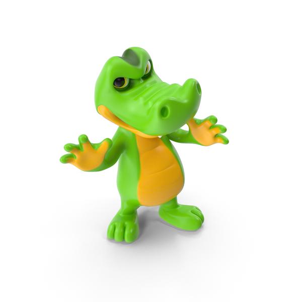 Cartoon Crocodile Aggression PNG & PSD Images