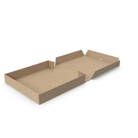 Pizza Box Kraft Paper 10 inch Open PNG & PSD Images