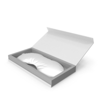 White Silk Sleep Mask with Gift Box PNG & PSD Images