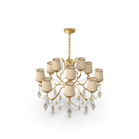 Baroque Crystal Chandelier PNG & PSD Images