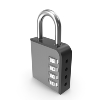 Combination Lock Black PNG & PSD Images