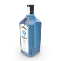 Bombay Sapphire Gin Bottle PNG & PSD Images