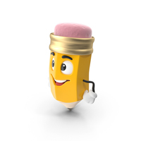 Cartoon Pencil Hands on Hips PNG & PSD Images
