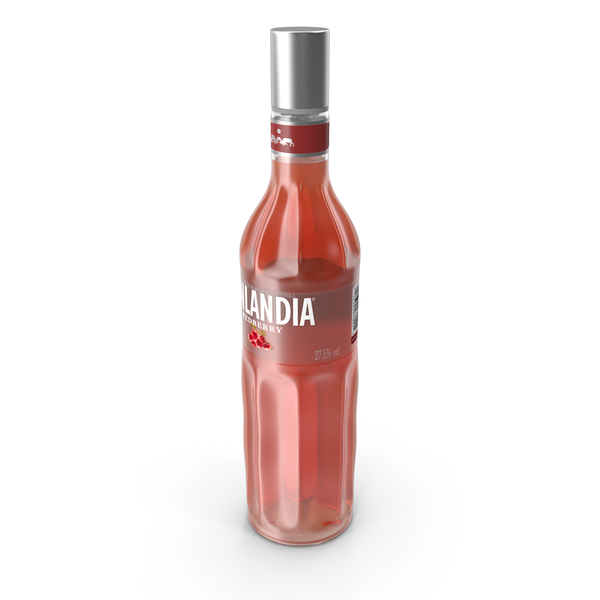 Finlandia Redberry Vodka Bottle PNG & PSD Images