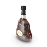 Hennessy XO Cognac Bottle PNG & PSD Images