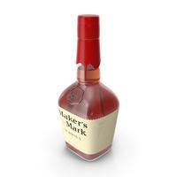 Maker's Mark Bourbon Whisky Bottle PNG & PSD Images
