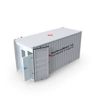 Medical Container Opened Doors PNG & PSD Images