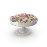 Fancy Porcelain Bowl with Yogurt Covered Mini Pretzels PNG & PSD Images