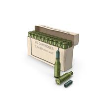 Box of 5,6х39 .220 Russian Cartridge PNG & PSD Images