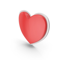 Heart Red White PNG & PSD Images