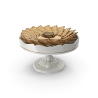 Small Fancy Porcelain Bowl with Crackers with Various Seeds PNG & PSD Images