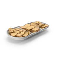 Compartment Bowl with Crackers PNG & PSD Images