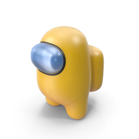 Among Us Yellow Guy Character PNG & PSD Images