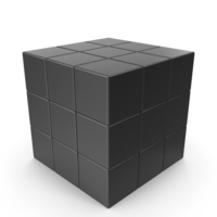 Black Puzzle Cube PNG & PSD Images