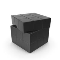 Black Puzzle Cubes PNG & PSD Images