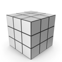 White Puzzle Cube PNG & PSD Images