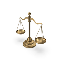 Gold Brass Balance Scale PNG & PSD Images