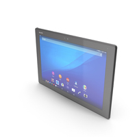 Sony Xperia Z4 Tablet LTE & WiFi Black PNG & PSD Images