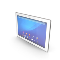 Sony Xperia Z4 Tablet LTE & WiFi White PNG & PSD Images