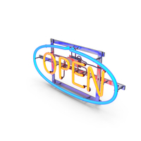 Neon Open Sign PNG & PSD Images
