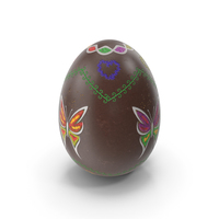 Easter Egg Chocolate Butterfly PNG & PSD Images