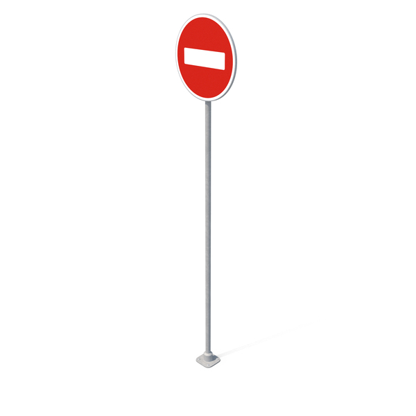 Round Traffic Sign PNG & PSD Images