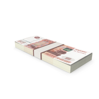 5000 Ruble Stack PNG & PSD Images