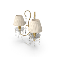 2 Bulb Wall Classical Lamp With Shades PNG & PSD Images
