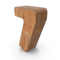 7 Wooden Number PNG & PSD Images
