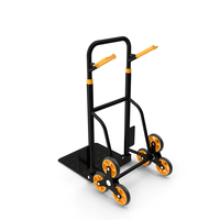 Hand Truck Trolley Cart Yellow PNG & PSD Images
