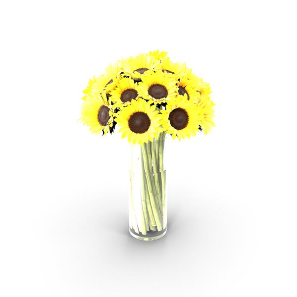 Sunflowers Bouquet PNG & PSD Images