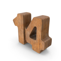 14 Wooden Number PNG & PSD Images