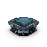 Sci-Fi Table with Hologram PNG & PSD Images