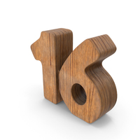 16 Wooden Number PNG & PSD Images