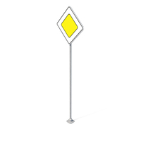 Traffic Sign Main Road PNG & PSD Images