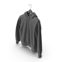 Black Hoodie with Hanger PNG & PSD Images