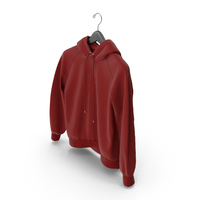 Red Hoodie with Hanger PNG & PSD Images