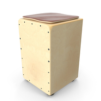 Traditional String Cajon Drum with Seat Pad PNG & PSD Images
