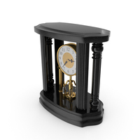 Black Classical Table Clock PNG & PSD Images