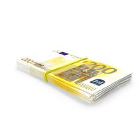 Bundle of 200 Euro Banknotes Bills PNG & PSD Images