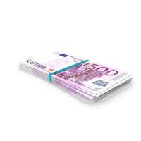 Bundle of 500 Euro Banknotes Bills PNG & PSD Images