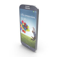 Samsung Galaxy S4 Blue PNG & PSD Images