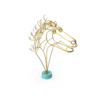 Curtis Jere  Horse Head Wire Sculpture PNG & PSD Images