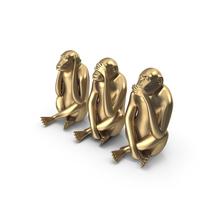 Monkey Statues Set Sculpture PNG & PSD Images
