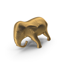Golden Elephant Sculpture PNG & PSD Images