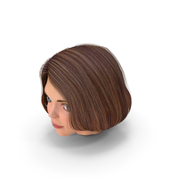 Cartoon Young Girl Head PNG & PSD Images