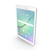 Samsung Galaxy Tab S2 9.7 White PNG & PSD Images