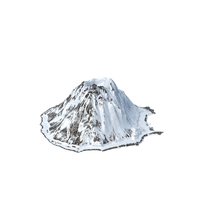 Volcano Snowy PNG & PSD Images