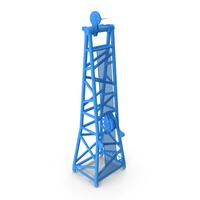 Crane D Head Section 8.5m Blue PNG & PSD Images